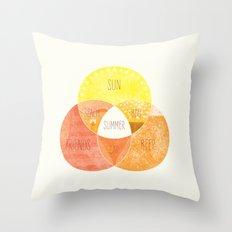 Venn it's Summer! Throw Pillow
