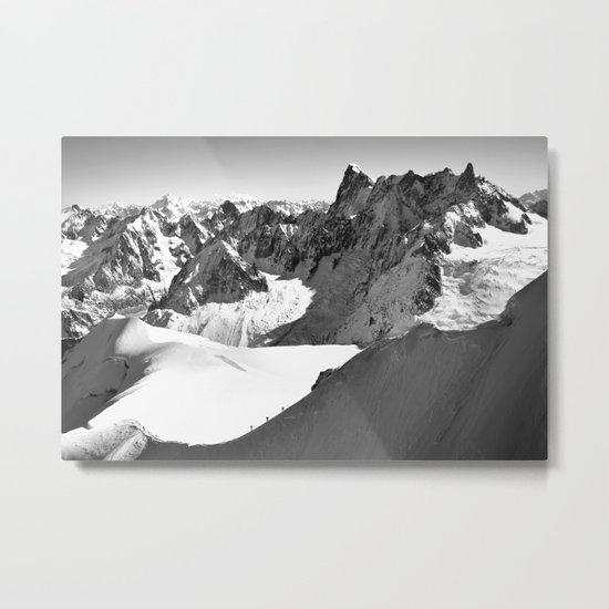 French Alps, Chamonix, France. Metal Print