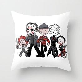 Horror BFFs Throw Pillow