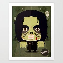 Alan Zombie Art Print