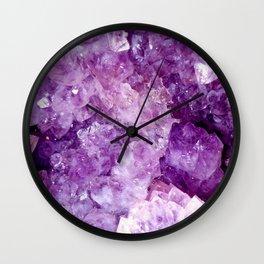 Purple Gems Wall Clock