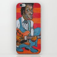 chuck iPhone & iPod Skins featuring Chuck Berry  by Robert E. Richards