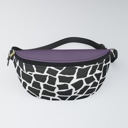 British Mosaic Purple Boarder Fanny Pack