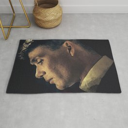 Peaky Blinders, Cillian Murphy, Thomas Shelby, BBC Tv series, gangster family Rug