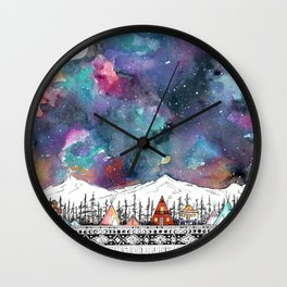 Mountain Camp Vibes Wall Clock