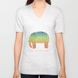 THE ELEGANT (RAINBOW) Unisex V-Neck
