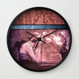 He Left Words And Flowers by the Bed -romantic victorian art prit Wall Clock