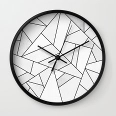 White Stone / Black Lines Wall Clock