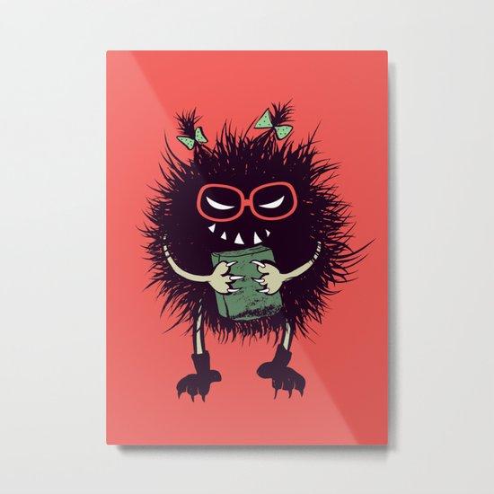 Evil Bug Student Loves To Read Metal Print
