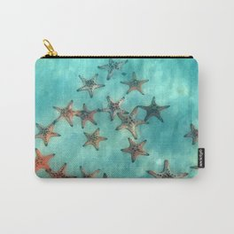 Ocean and starfish Carry-All Pouch