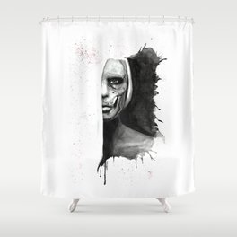 Skull Of Woman Shower Curtain