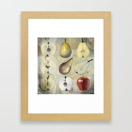 Fruit collage Framed Art Print