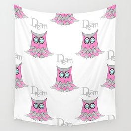 Dream Owl Pattern Wall Tapestry