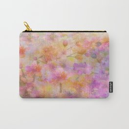 Sophisticated Painterly Floral Abstract Carry-All Pouch