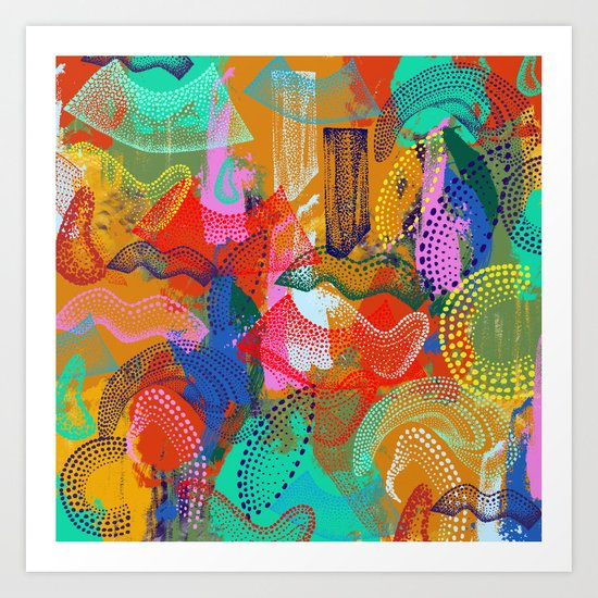 The Stipple Dots Abstract Art Print