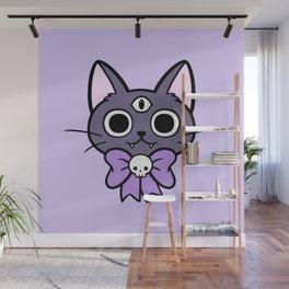 Three Eyed Kitty Wall Mural