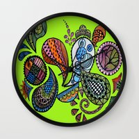 paisley Wall Clocks featuring Paisley by Sketchii Studio