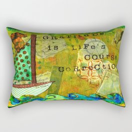 Gratitude is Life's Course Correction Rectangular Pillow