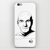 picard iPhone & iPod Skins featuring Jean-Luc Picard by Hippy Hoo Ha
