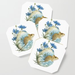 Field Mouse and Celestite Geode Coaster