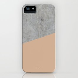 Concrete and Hazelnut Color iPhone Case