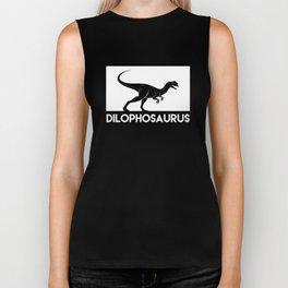 Dilophosaurus Dinosaur Biker Tank