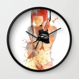 Shibari - Japanese BDSM Art Painting #5 Wall Clock