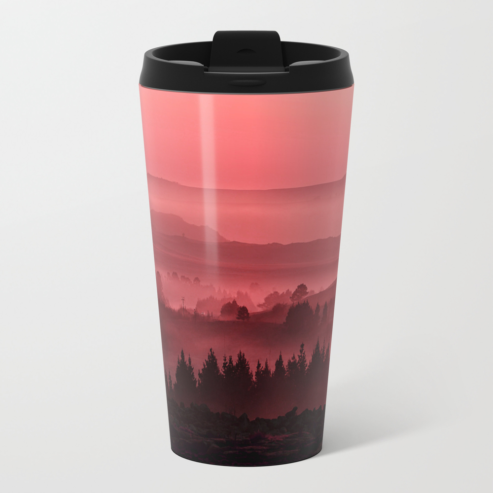 My Road, My Way. Red. Metal Travel Mug by Twopoint0 MTM9058502