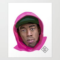 tyler the creator Art Prints featuring Tyler the Creator by SELS - Sebastian Emilio Luna Sevilla