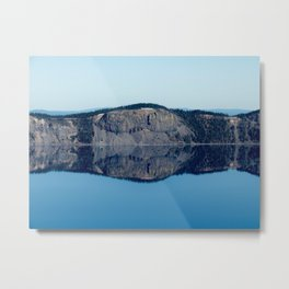 Crater Lake Reflection Metal Print