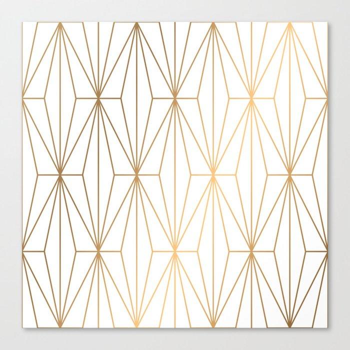 Gold Geometric Pattern Illustration Leinwanddruck