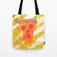 pizza Tote Bags featuring Pizza by Angelz