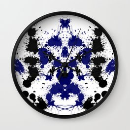 Rorschach 6 Wall Clock