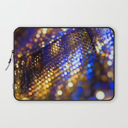 Gold Blue bokeh Laptop Sleeve