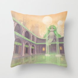 Space Atlantis Throw Pillow