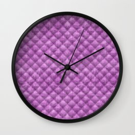 Quilted Purple Velvety Pattern Wall Clock
