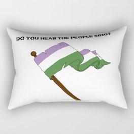 Gender Queer Flag Rectangular Pillow