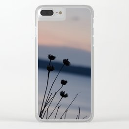 Sunset Flower's Silhouette Clear iPhone Case