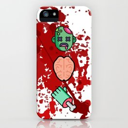 Mmm... Brains Zombie iPhone Case