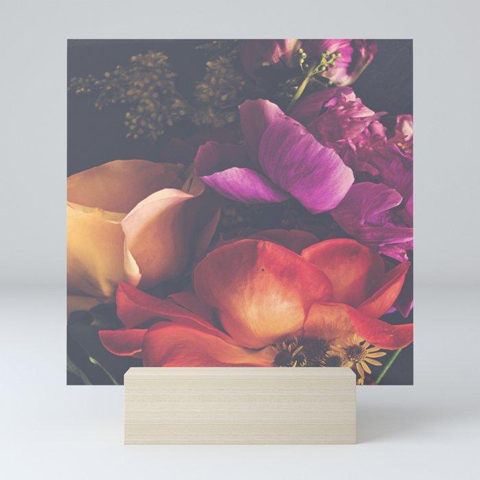 Color Burst Florals Mini Art Print
