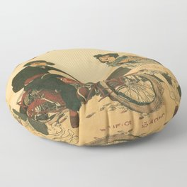 Vintage poster - Indian Motorcycles Floor Pillow