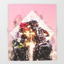Bikers in love Throw Blanket
