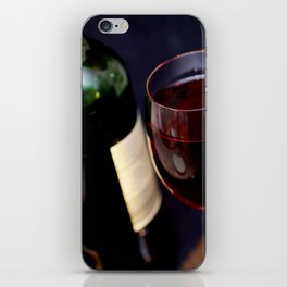 Red  Wine and Wine Glass Photograph iPhone Skin