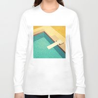 pool Long Sleeve T-shirts featuring Pool by Herb Vaine