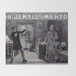 Dr. Jekyll and Mr. Hyde Throw Blanket