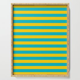 Kazakhstan flag stripes Serving Tray
