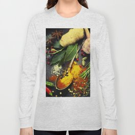 Spices and herbs. Food and cuisine ingredients. Long Sleeve T-shirt