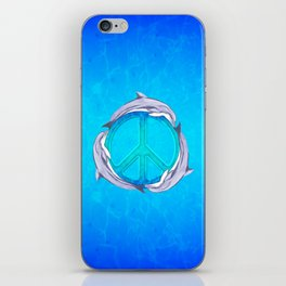 Dolphin Peace iPhone Skin