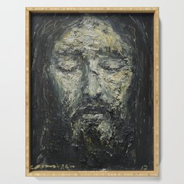 Holy Face of Our Lord Jesus Christ Serving Tray