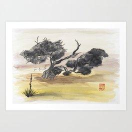 Coyote Ridge Tree Art Print